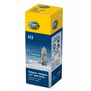 HELLA Ampolleta H3 Standard PK22s 12V 55W